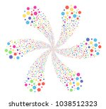 psychedelic abstract flower... | Shutterstock .eps vector #1038512323