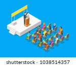 politician business concept 3d... | Shutterstock .eps vector #1038514357