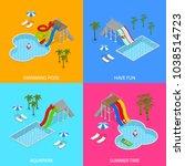 aqua park concept banner card... | Shutterstock .eps vector #1038514723