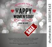 happy women's day sale card... | Shutterstock .eps vector #1038519163