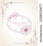 vintage floral frame with curls....   Shutterstock .eps vector #1038520477