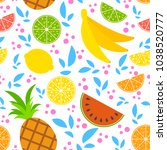 colorful seamless pattern of... | Shutterstock .eps vector #1038520777