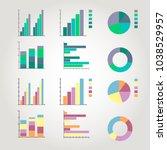 set of vector diagrams | Shutterstock .eps vector #1038529957