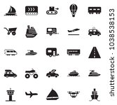 solid black vector icon set  ... | Shutterstock .eps vector #1038538153