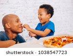 cute little african american... | Shutterstock . vector #1038547723