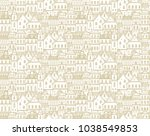 seamless vector pattern with... | Shutterstock .eps vector #1038549853