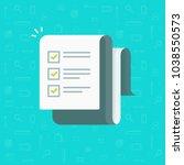 checklist vector illustration ... | Shutterstock .eps vector #1038550573