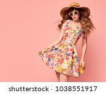 portrait of fashion young woman ... | Shutterstock . vector #1038551917