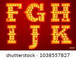 vector realistic glowing... | Shutterstock .eps vector #1038557827