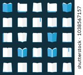 book icons set   vector flat...