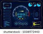 virtual circle hud gui elements ...