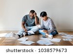 couple managing the debt | Shutterstock . vector #1038579673