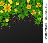 saint patrick day border with... | Shutterstock .eps vector #1038580513