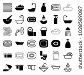 bath icons. set of 36 editable... | Shutterstock .eps vector #1038589087