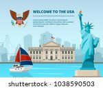 american urban landscape with... | Shutterstock .eps vector #1038590503