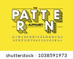 vector of modern abstract font... | Shutterstock .eps vector #1038591973
