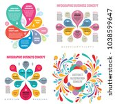 business infographic templates... | Shutterstock .eps vector #1038599647