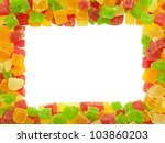 Frame Of Colored Candied Fruit...