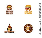 burger logo design | Shutterstock .eps vector #1038602653