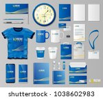 corporate branding identity... | Shutterstock .eps vector #1038602983