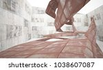 empty smooth abstract room...   Shutterstock . vector #1038607087