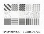 universal vector seamless... | Shutterstock .eps vector #1038609733