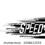 off road speed hand drawn... | Shutterstock .eps vector #1038612553
