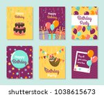 happy birthday collection... | Shutterstock .eps vector #1038615673