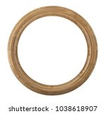round wooden frame isolated on... | Shutterstock . vector #1038618907