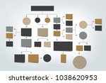 flowchart.  colored shadows... | Shutterstock .eps vector #1038620953
