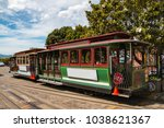 san francisco's iconic cable... | Shutterstock . vector #1038621367