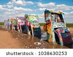 amarillo  texas   july 4  2016  ... | Shutterstock . vector #1038630253