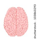 volumetric pink brain is a top... | Shutterstock . vector #103863293