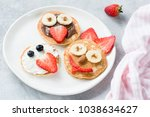 pancakes art for kids on white... | Shutterstock . vector #1038634627