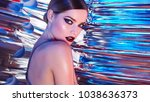 beautiful young girl in the... | Shutterstock . vector #1038636373