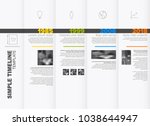 simple horizontal timeline... | Shutterstock .eps vector #1038644947