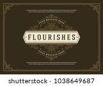 vintage ornament greeting card... | Shutterstock .eps vector #1038649687