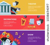 performance or theatre... | Shutterstock .eps vector #1038654097