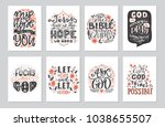 vector set of  greetings card... | Shutterstock .eps vector #1038655507