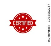 certified icon. approved... | Shutterstock .eps vector #1038662257
