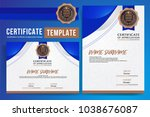 certificate template ...   Shutterstock .eps vector #1038676087