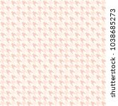 rose houndstooth pattern....   Shutterstock .eps vector #1038685273