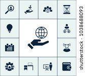 globe icon business set simple... | Shutterstock .eps vector #1038688093