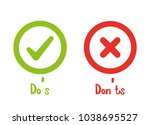 do's and don'ts icon | Shutterstock .eps vector #1038695527