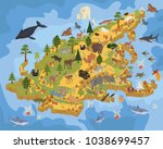 isometric 3d asian flora and... | Shutterstock .eps vector #1038699457