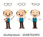 vector set of male  man teacher ... | Shutterstock .eps vector #1038702493