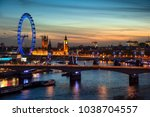 landscape image of the london... | Shutterstock . vector #1038704557