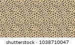 leopard seamless vector pattern.... | Shutterstock .eps vector #1038710047
