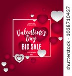 valentine s day love and... | Shutterstock . vector #1038710437