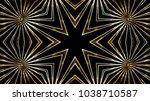 golden glassy lights | Shutterstock . vector #1038710587